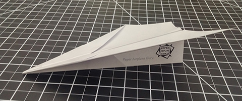 IMAGE: Flyer Paper Airplane Design